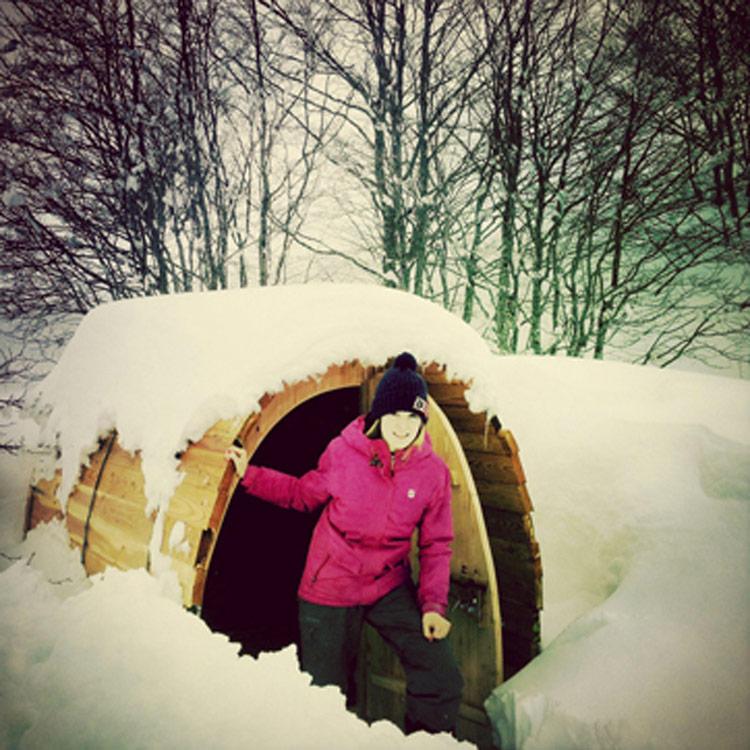 nuit en snow pod et igloo